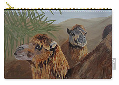 Carry-all Pouch featuring the painting Break Time by Karen Ilari