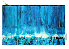 Breakers Off Point Reyes Original Painting Carry-all Pouch