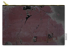 Carry-all Pouch featuring the digital art Breaking Bad Concrete Wall by Brian Reaves