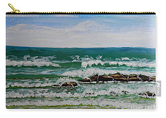 Breaking Waves Carry-all Pouch by Pamela  Meredith