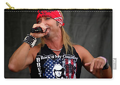 Bret Michaels In Philly Carry-all Pouch by Alice Gipson