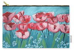 Brezzy Poppies Carry-all Pouch