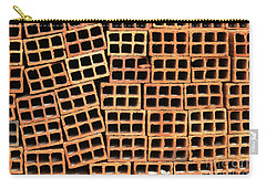Brick Abstract Carry-all Pouch by Vivian Christopher