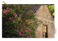 Carry-all Pouch featuring the photograph Brick And Myrtle by Rodney Lee Williams