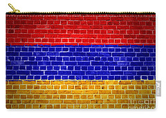 Brick Wall Armenia Carry-all Pouch by Antony McAulay