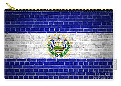Brick Wall El Salvador Carry-all Pouch by Antony McAulay