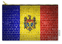 Brick Wall Moldova Carry-all Pouch by Antony McAulay