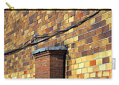 Bricks And Wires Carry-all Pouch by Ethna Gillespie