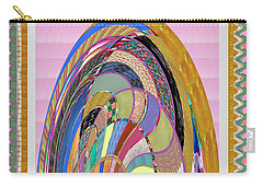 Bride In Layers Of Veils Accidental Discovery From Graphic Abstracts Made From Crystal Healing Stone Carry-all Pouch by Navin Joshi