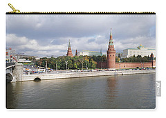 Bridge Across A River, Bolshoy Kamenny Carry-all Pouch by Panoramic Images