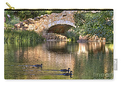 Carry-all Pouch featuring the photograph Bridge At Stow Lake by Kate Brown