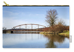 Carry-all Pouch featuring the photograph Bridge At Upper Lisle by Christina Rollo