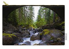 Bridge Below Rainier Carry-all Pouch by Chad Dutson