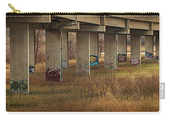 Carry-all Pouch featuring the photograph Bridge Graffiti by Patti Deters