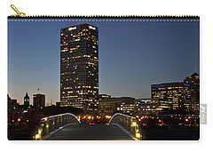 Carry-all Pouch featuring the photograph Bridge Into Milwaukee by Deborah Klubertanz
