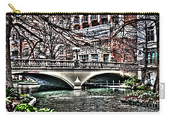 Carry-all Pouch featuring the photograph Bridge Over San Antonio River by Deborah Klubertanz