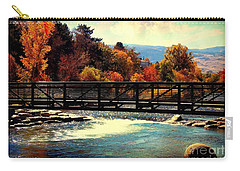 Bridge Over The Truckee River Carry-all Pouch by Bobbee Rickard