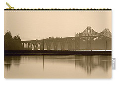 Bridge Reflection In Sepia Carry-all Pouch