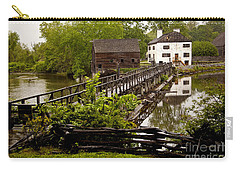 Carry-all Pouch featuring the photograph Bridge To Philipsburg Manor Mill House by Jerry Cowart