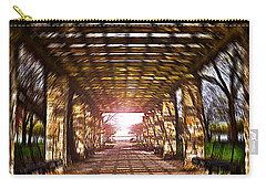 Carry-all Pouch featuring the photograph Bridge To The Light From The Series The Imprint Of Man In Nature by Verana Stark