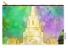 Carry-all Pouch featuring the painting The Heavens Were Opened by Greg Collins
