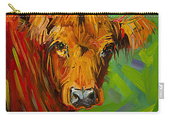 Bright And Beautiful Cow Carry-all Pouch
