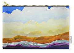 Carry-all Pouch featuring the painting Bright As A Cumulus Cloud by Dan Whittemore