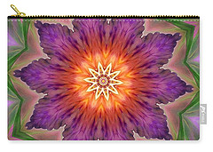 Carry-all Pouch featuring the digital art Bright Flower by Lilia D