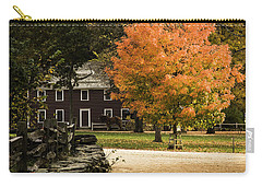 Carry-all Pouch featuring the photograph Bright Orange Autumn by Jeff Folger