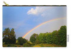 Carry-all Pouch featuring the photograph Bright Rainbow by Kathryn Meyer