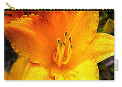 Bright Yellow Daylily Flower Carry-all Pouch