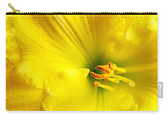 Bright Yellow Lily Carry-all Pouch by Jim Hughes