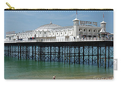 Carry-all Pouch featuring the photograph Brighton Pier - Sussex By The Sea by Phil Banks