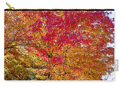 brilliant autumn colors on a Marblehead street Carry-all Pouch by Jeff Folger