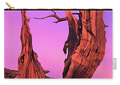 Carry-all Pouch featuring the photograph Bristlecone Pine At Sunset White Mountains Californa by Dave Welling