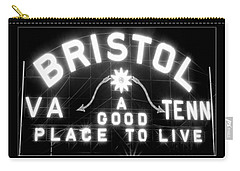 Bristol Virginia Tennesse Slogan Sign Carry-all Pouch