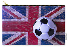 British Flag And Soccer Ball Carry-all Pouch by Garry Gay