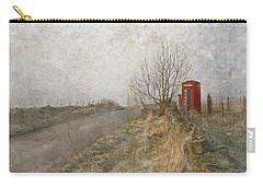 Carry-all Pouch featuring the photograph British Phone Box by Liz  Alderdice