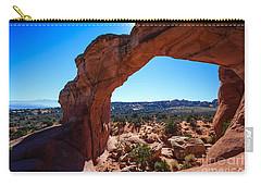 Broken Arch Under Blue Sky Carry-all Pouch