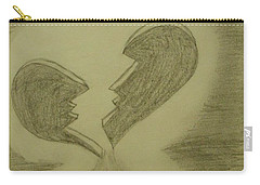 Carry-all Pouch featuring the drawing Broken by Thomasina Durkay