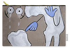 Carry-all Pouch featuring the painting Broken Tooth by Anthony Falbo