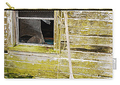 Carry-all Pouch featuring the photograph Broken Window by Mary Carol Story