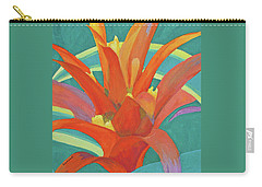 Bromeliad Glow Carry-all Pouch by Margaret Saheed