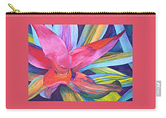 Bromeliad Pink Carry-all Pouch