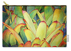 Carry-all Pouch featuring the painting Bromeliads I by Roger Rockefeller