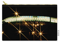 Bronx Night  Iv Yankee Stadium Carry-all Pouch by Iconic Images Art Gallery David Pucciarelli