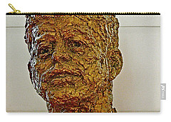 Bronze Sculpture Of President Kennedy In The Kennedy Center In Washington D C  Carry-all Pouch