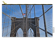 Carry-all Pouch featuring the photograph Brooklyn Bridge by David Gleeson