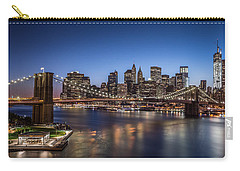 Carry-all Pouch featuring the photograph Brooklyn Bridge by Mihai Andritoiu