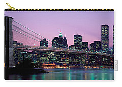Brooklyn Bridge New York Ny Usa Carry-all Pouch by Panoramic Images